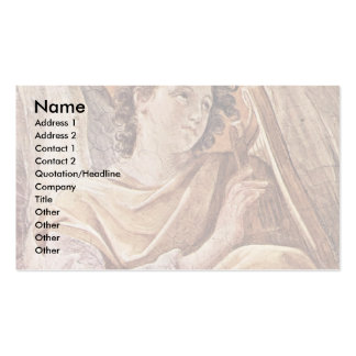 Queen Of Heaven And Detailed Musical Angels Business Card