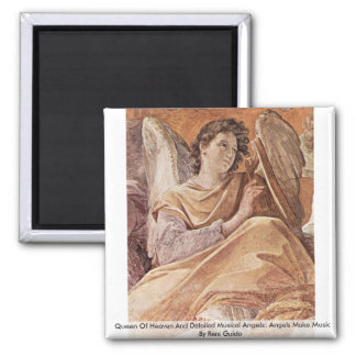 Queen Of Heaven And Detailed Musical Angels Fridge Magnets