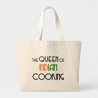 Queen of Indian cooking Jumbo Tote Bag