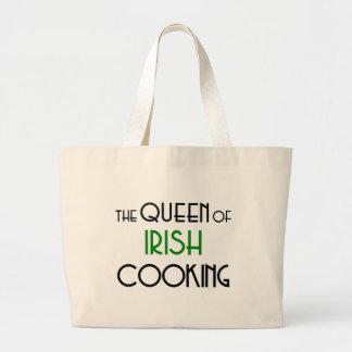 Queen of Irish cooking Jumbo Tote Bag