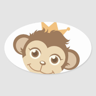 Queen Of Jungle Oval Sticker