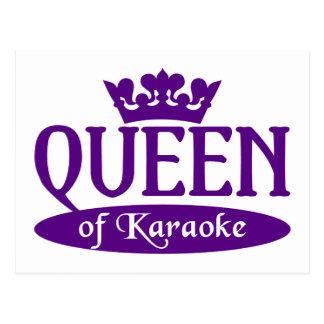 Queen of Karaoke postcard