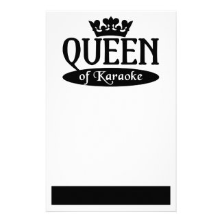 Queen of Karaoke stationary, customize Stationery