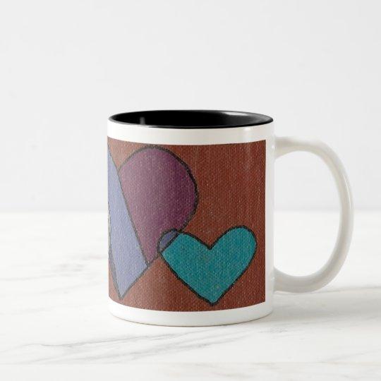 Queen of Love Tripple Heart  Mug