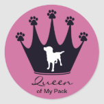 Queen of My Pack Classic Round Sticker