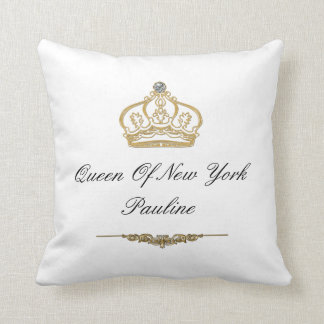 Queen Of New York Monogram Throw Pillow