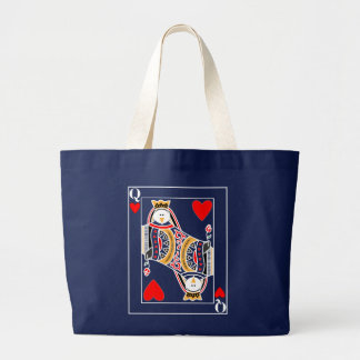 Queen of penguins large tote bag