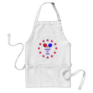 Queen of Ping Pong Adult Apron
