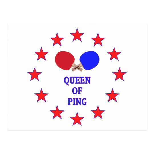 Queen of Ping Pong Postcard
