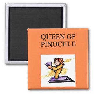 queen of pinochle fridge magnet