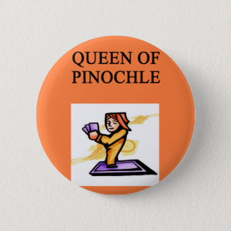 queen of pinochle pinback button