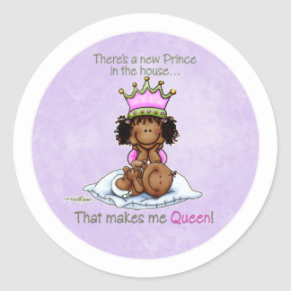 Queen of Prince African American Big Sis stickers