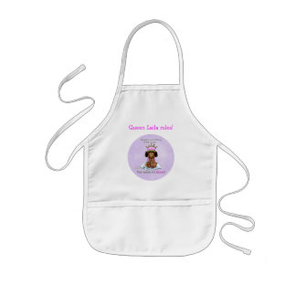 Queen of Prince African American Big Sister apron