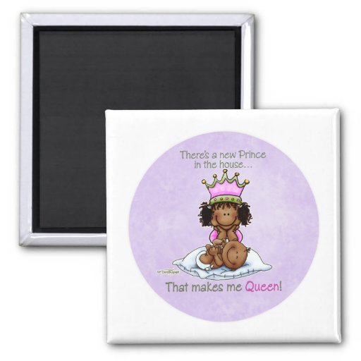 Queen of Prince African American Big Sister magnet