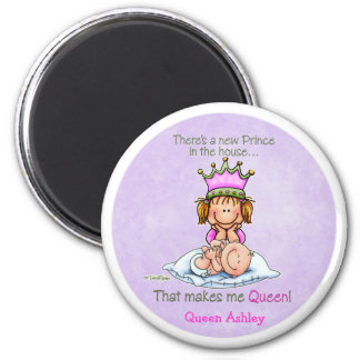 Queen of Prince - Big Sister 2 Inch Round Magnet