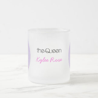 Queen of Prince - Big Sister Frosted Glass Coffee Mug