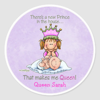 Queen of Prince - Big Sister Classic Round Sticker