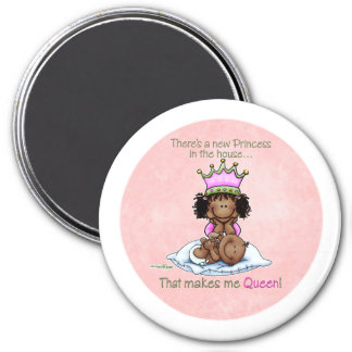 Queen of Princess African American Big Sis magnet