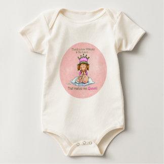 Queen of Princess - future Big Sister Baby Bodysuit