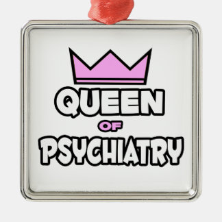 Queen of Psychiatry Square Metal Christmas Ornament
