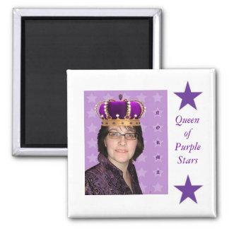 Queen of Purple Stars Magnet