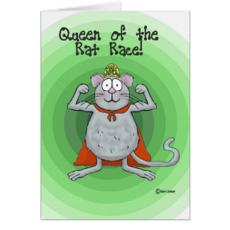 Queen of Rat Race Boss's Day Funny Humor Card