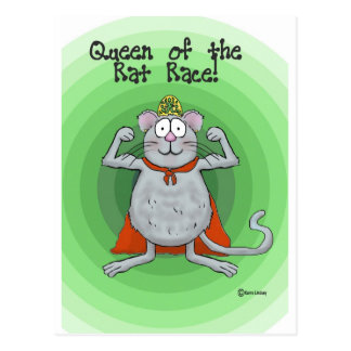 Queen of Rat Race Boss's Day Funny Humor Postcard
