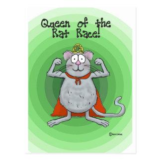 Queen of Rat Race Boss's Day Funny Humor Postcard
