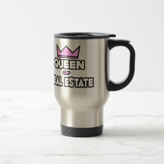 Queen of Real Estate Travel Mug