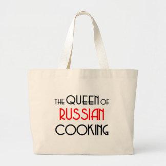 Queen of Russian cooking Jumbo Tote Bag