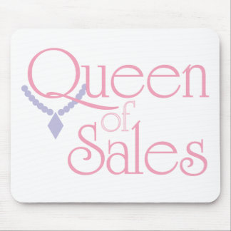Queen of Sales on White Mouse Pad