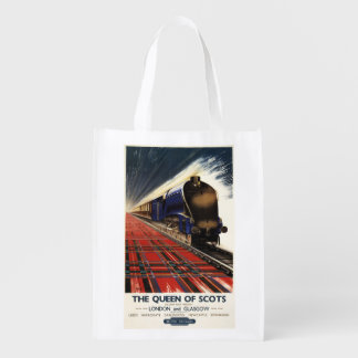 Queen of Scots Pullman Train Reusable Grocery Bag
