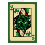Queen of Shamrocks Greeting Cards