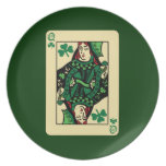 Queen Of Shamrocks Party Plates