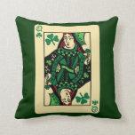 Queen Of Shamrocks Throw Pillow