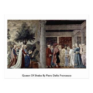 Queen Of Sheba By Piero Della Francesca Postcard