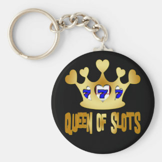 QUEEN OF SLOTS KEY CHAIN