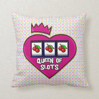 Queen of Slots Throw Pillow