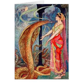 Queen of Snakes Borderless Card