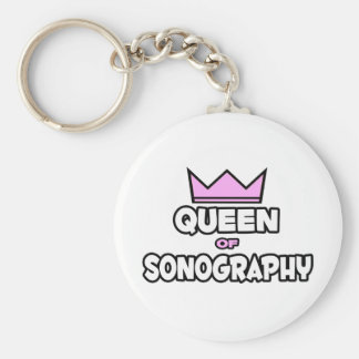 Queen of Sonography Keychain