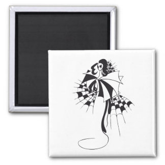 Queen of Spades 2 Inch Square Magnet