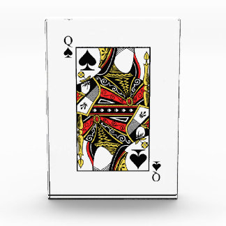 Queen of Spades - Add Your Image Acrylic Award
