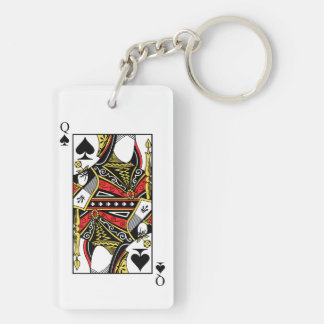 Queen of Spades - Add Your Image Keychain