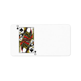 Queen of Spades - Add Your Image Label