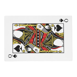 Queen of Spades - Add Your Image Placemat