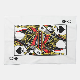 Queen of Spades - Add Your Image Towel