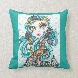 Queen Of Spades Fantasy Art Pillow
