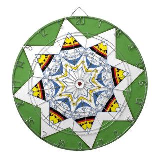 Queen of spades in a star shape dartboard