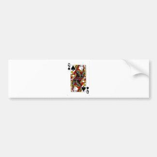 queen of spades.png bumper sticker