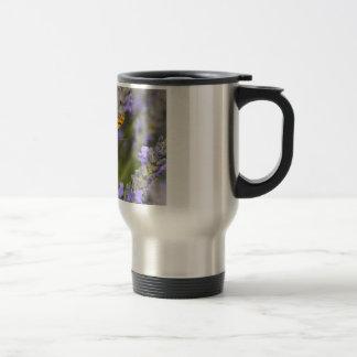 Queen of Spain Fritillari butterfly on lavender Mug